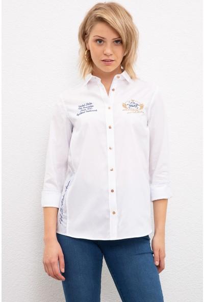 U.S. Polo Assn. Kadın Dokuma Gömlek