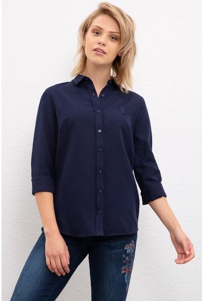 U.S. Polo Assn. Kadın Dokuma Gömlek 50217689-Vr033