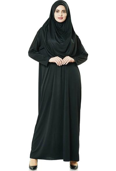 İhvan 5015 Tek Parça Siyah Namaz Elbisesi Battal