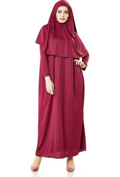 İhvan 5015 Tek Parça Mürdüm Namaz Elbisesi Standart
