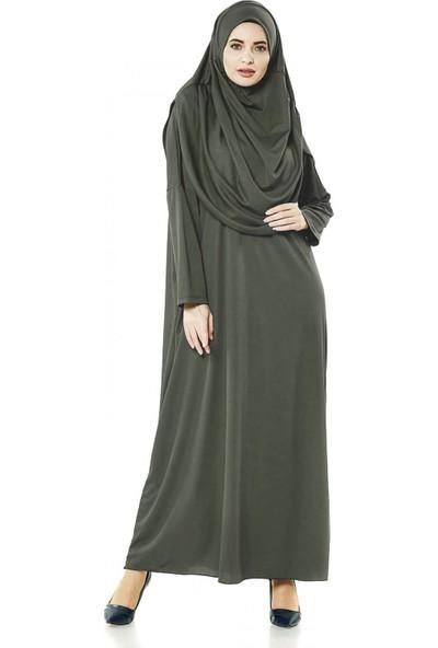 İhvan 5015 Tek Parça Haki Namaz Elbisesi Battal