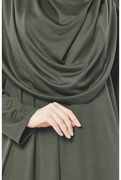 İhvan 5015 Tek Parça Haki Namaz Elbisesi Standart Beden