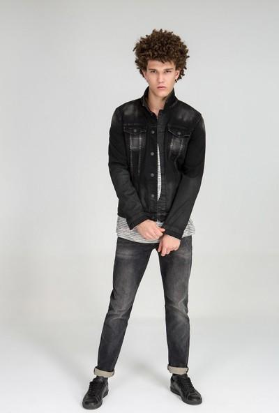 LTB Santino Y Vintage Black Wash Erkek Jeans Ceket