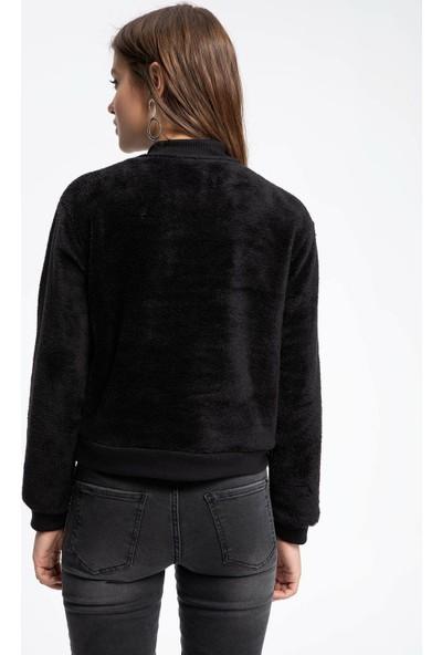 Defacto Kadın Şerit Detaylı Sweatshirt