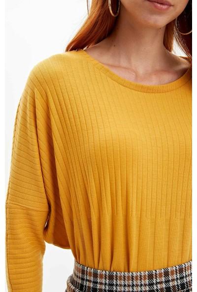 Defacto Kadın Yarasa Kol T-Shirt