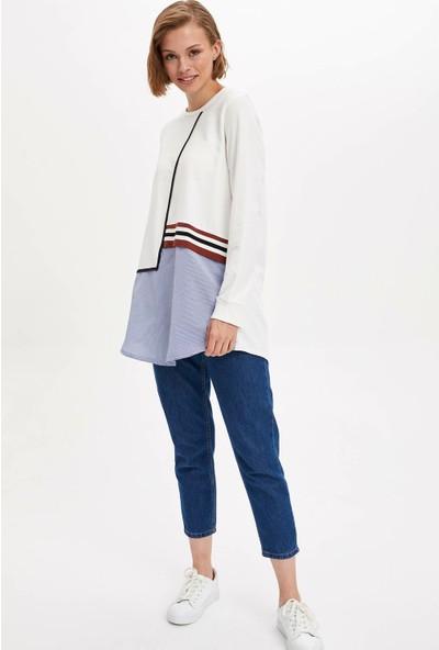 Defacto Kadın Renk Bloklu Tunik