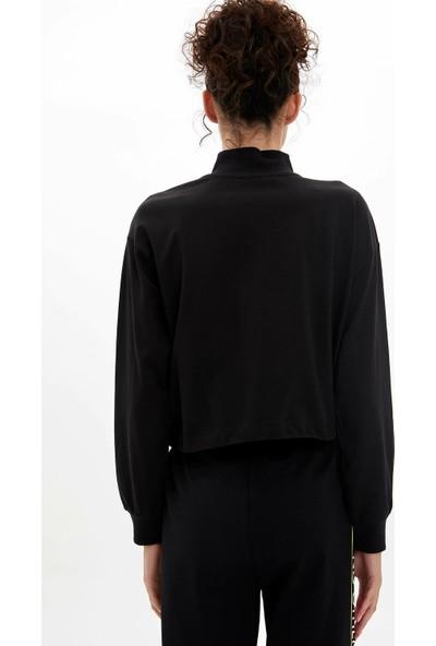 Defacto Kadın Yarım Fermuarlı Sweatshirt