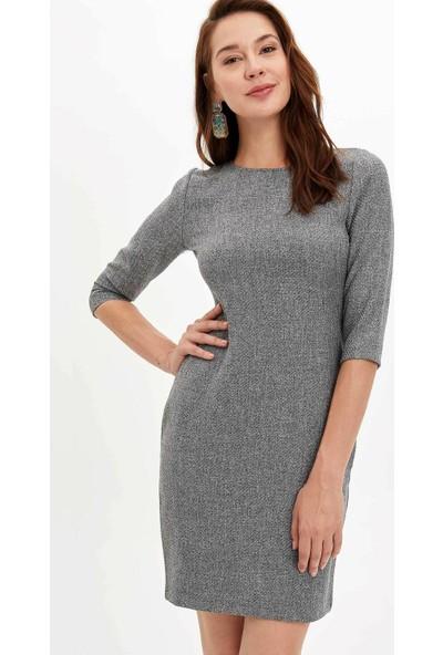 Defacto Kadın Regular Fit Uzun Elbise
