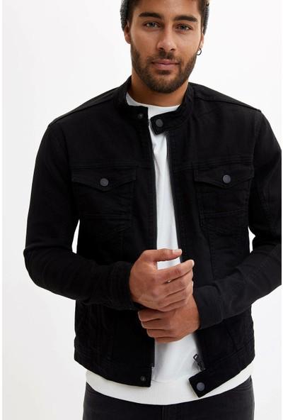 Defacto Erkek Fermuarlı Basic Jean Ceket
