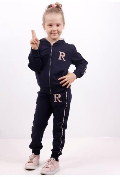 Toontoy Kız Çocuk Göğsü R Nakışlı Eşofman Takım