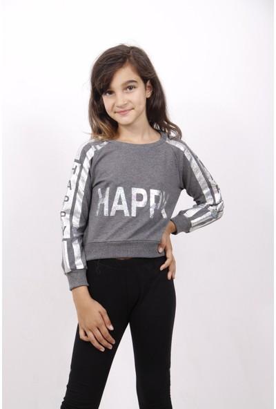 Toontoy Kız Çocuk Happy Varay Baskılı Sweatshirt
