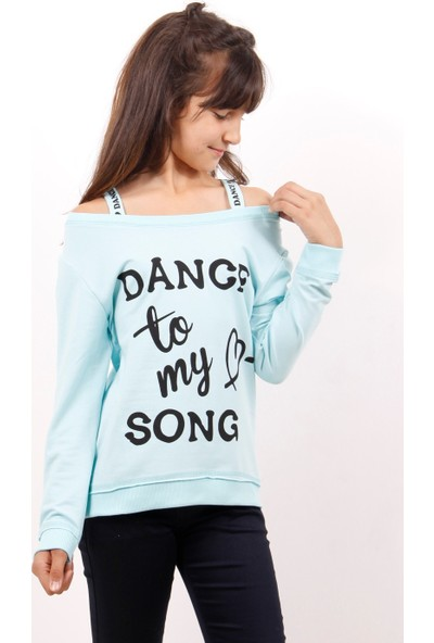 Toontoy Kız Çocuk Sweatshirt Dange Baskılı