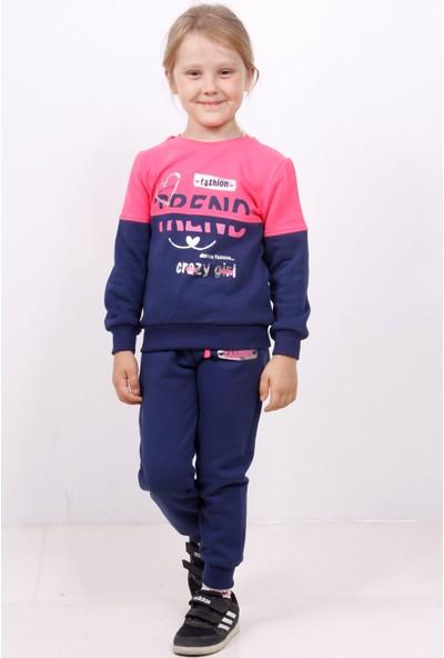 Toontoy Kız Çocuk Trend Baskılı İçi Pamuklu Eşofman Takım