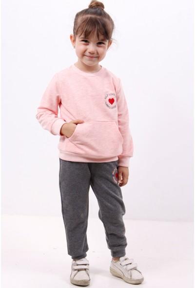 Toontoy Kız Çocuk İçi Pamuklu Eşofman Takım