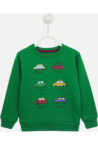 Modakids Yeşil Mevsimlik Erkek Çocuk Sweatshirt