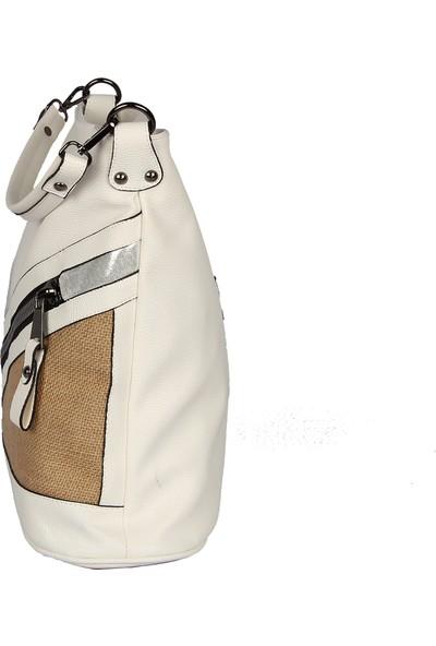 Harika Alışveriş H120 Beyaz El ve Omuz Askılı Kadın Çanta
