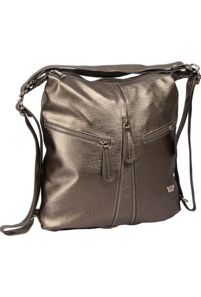 Harika Alışveriş H155 Bakır El - Omuz ve Sırt Askılı Kadın Çanta