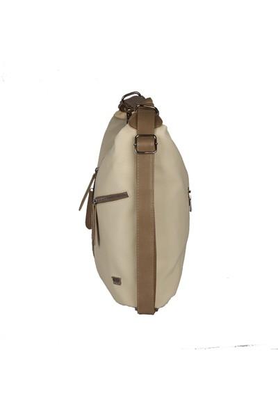 Harika Alışveriş H155 Krem El - Omuz ve Sırt Askılı Kadın Çanta
