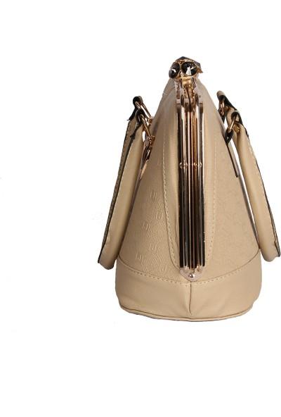 Harika Alışveriş H20 Krem El ve Omuz Askılı Kadın Çanta