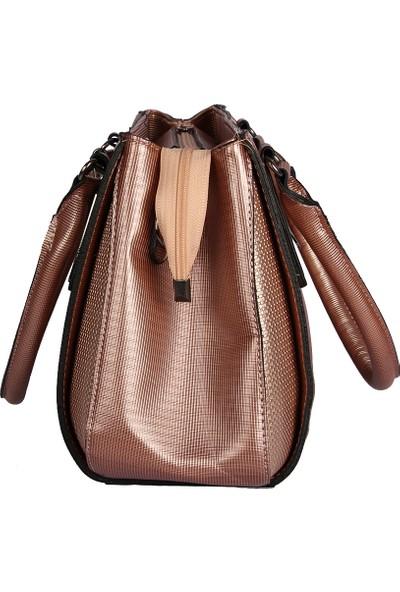 Harika Alışveriş H30 Pudra El ve Omuz Askılı Kadın Çanta