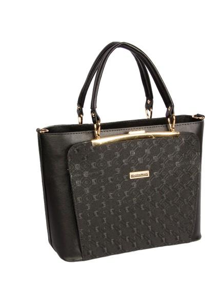 Harika Alışveriş H35 Siyah El ve Omuz Askılı Kadın Çanta