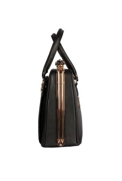 Harika Alışveriş H45 Siyah El ve Omuz Askılı Kadın Çanta