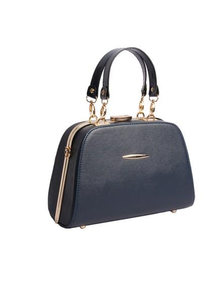 Harika Alışveriş H50 Lacivert El ve Omuz Askılı Kadın Çanta