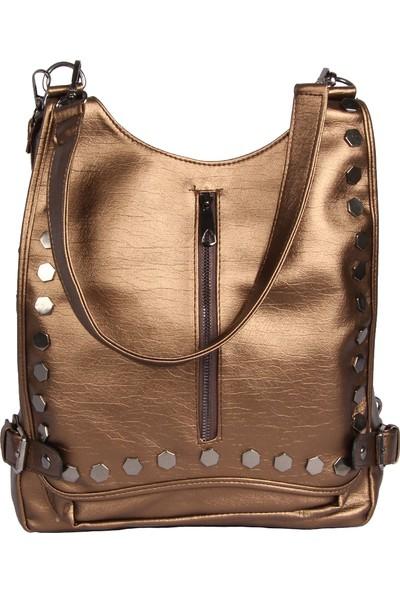 Harika Alışveriş H60 Bakır El - Omuz ve Sırt Askılı Kadın Çanta