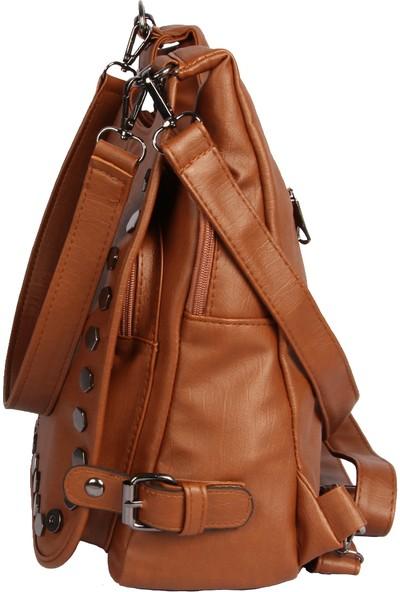 Harika Alışveriş H60 Taba El - Omuz ve Sırt Askılı Kadın Çanta