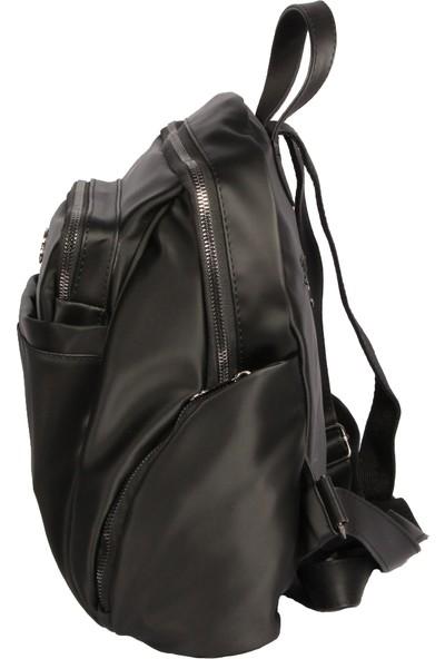 Harika Alışveriş H65 Siyah El - Omuz ve Sırt Askılı Kadın Çanta