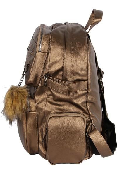 Harika Alışveriş H70 Bakır El - Omuz ve Sırt Askılı Kadın Çanta