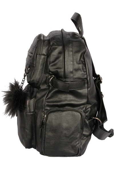 Harika Alışveriş H70 Siyah El - Omuz ve Sırt Askılı Kadın Çanta