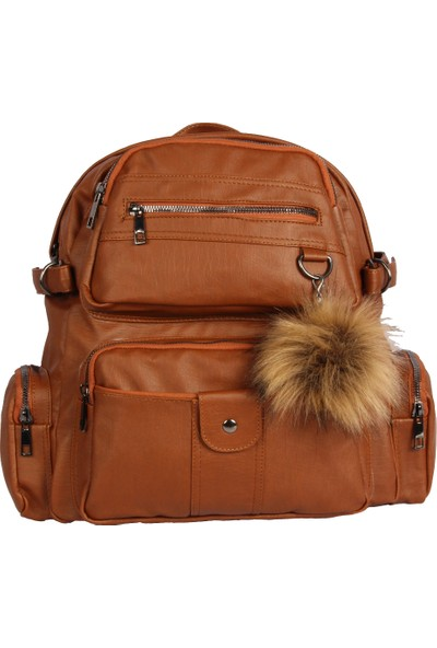 Harika Alışveriş H70 Taba El - Omuz ve Sırt Askılı Kadın Çanta