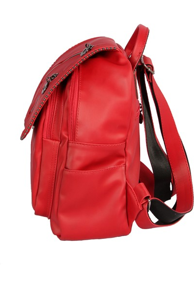 Harika Alışveriş H80 Kırmızı El - Omuz ve Sırt Askılı Kadın Çanta