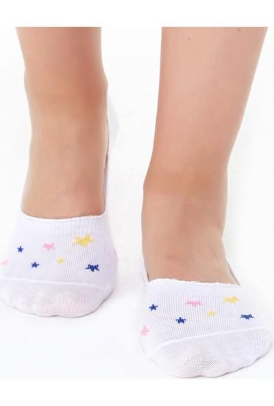 FullaModa Kadın Yıldız Desenli Babet Çorap