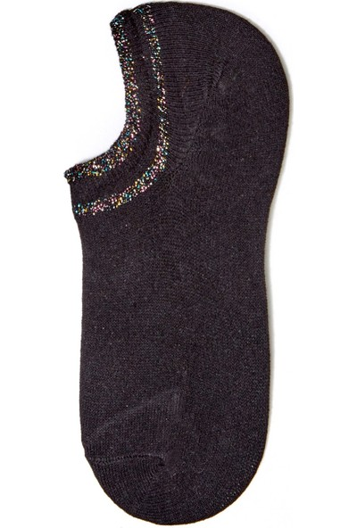 FullaModa Kadın Simli Babet Çorap