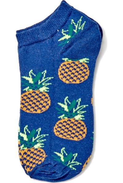 FullaModa Kadın Pizza Desenli Çorap