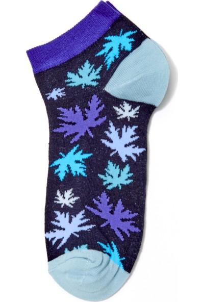 FullaModa Kadın Yaprak Desenli Çorap