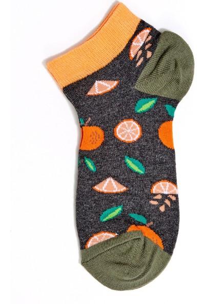 FullaModa Kadın Portakal Desenli Çorap