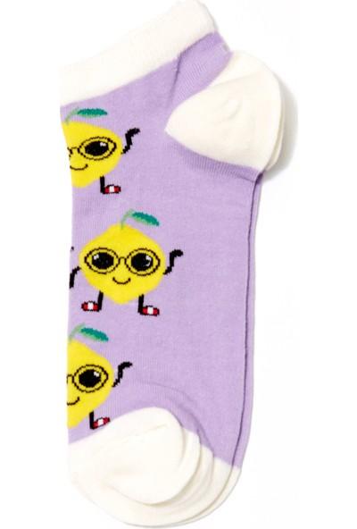 FullaModa Kadın Limon Desenli Çorap