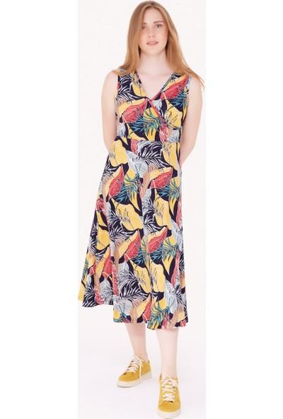 FullaModa Kadın Desenli Elbise