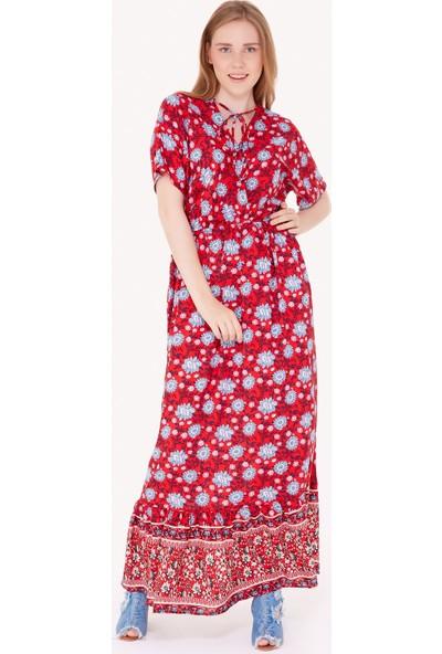 FullaModa Kadın Çiçek Desenli Elbise
