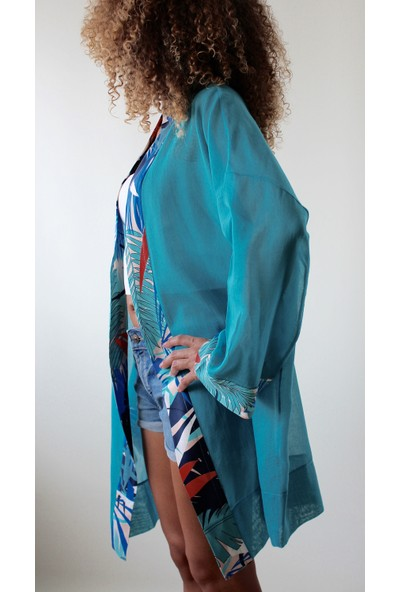 Tiera Styling Turkuaz Kimono
