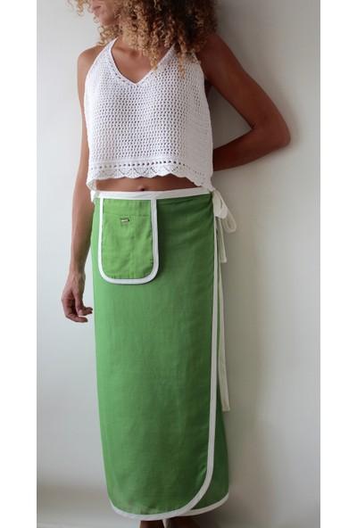 Tiera Styling Uzun Yeşil Pareo