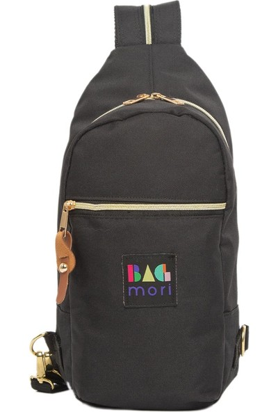 Bagmori Siyah Fermuar Askılı Çanta
