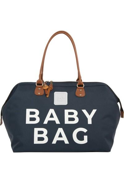 Bagmori Lacivert Baby Bag Baskılı Bebek Bakım Çantası