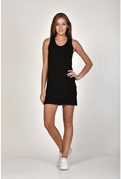 Sprout Kadın Siyah U Yaka Basic Elbise 10300