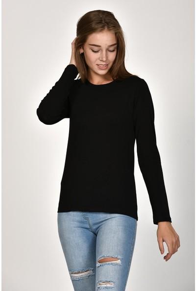 Sprout Kadın Siyah Uzun Kollu Basic Sweatshirt 10303
