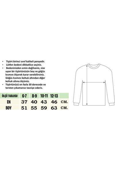 TakeTshirt Billie Eilish Çocuk T-shirt Uzun Kollu Beyaz Unisex