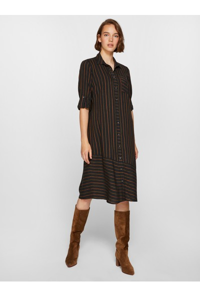 Faik Sönmez Kadın Çizgili Elbise 39255